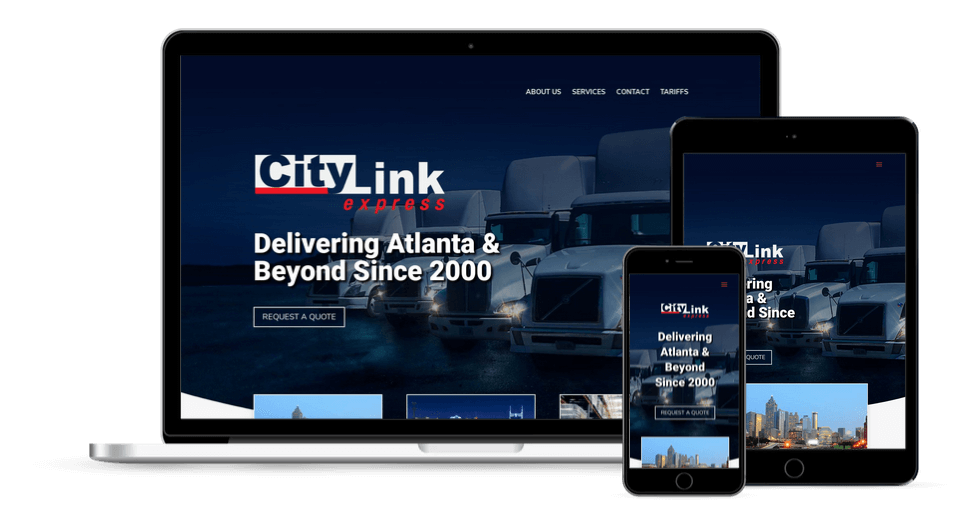Trucking Company Website Design Atlanta GA