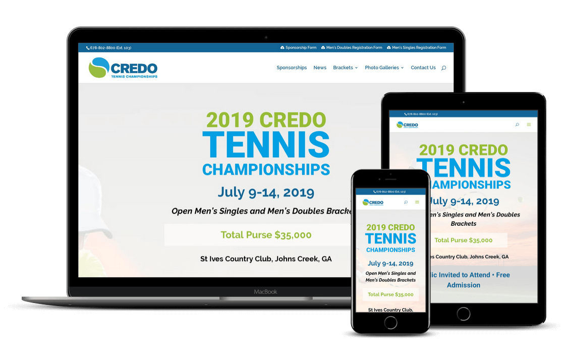 tennis championship website design