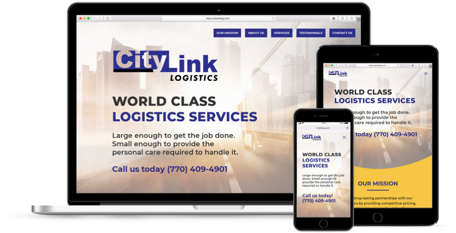 City Link Logistics Trucking Website Design Atlanta GA