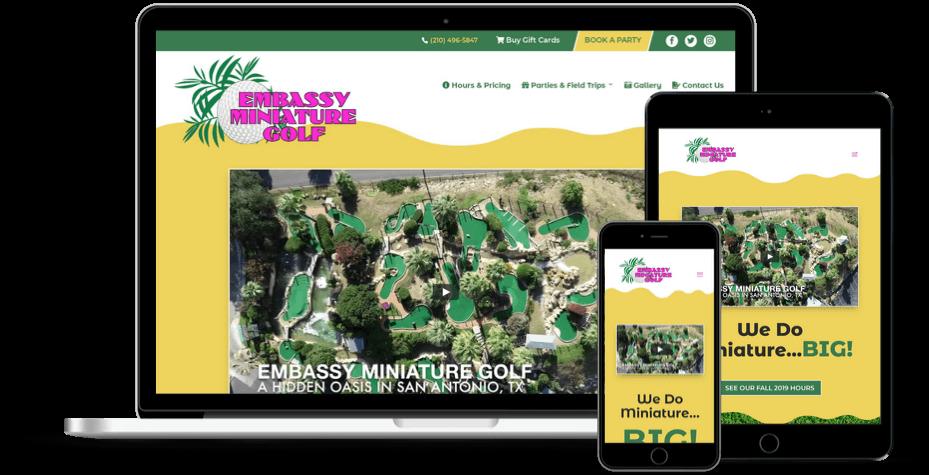 Embassy Miniature Golf Website Design & Development Atlanta GA