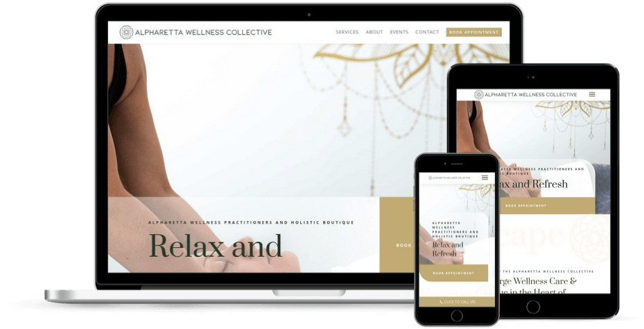 AWC Spa Health Wellness Website Design in Alpharetta, GA